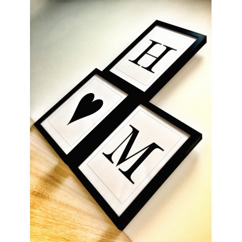 Framed Simple Letter Personalised Prints