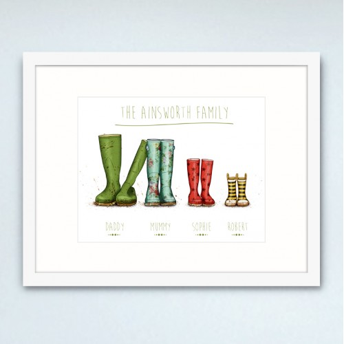 Personalised Wellington Boot Poster